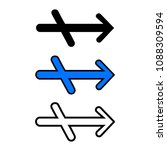 right arrow icon  isolated on...