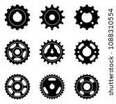 sprocket wheel and pulley icons ... | Shutterstock .eps vector #1088310554