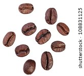coffee beans. isolated on white ... | Shutterstock . vector #108831125