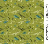 seamless vector pattern with... | Shutterstock .eps vector #1088316791