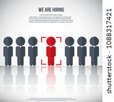 human resources   we are hiring ... | Shutterstock .eps vector #1088317421