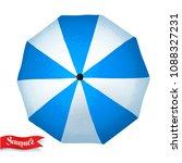 top view vector summertime... | Shutterstock .eps vector #1088327231