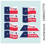 don't mess with texas design ... | Shutterstock .eps vector #1088327774