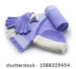 Set Of Winter Blue Woolen...
