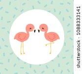 little cute flamingo. vector...   Shutterstock .eps vector #1088333141