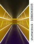 abstract hallway with colored... | Shutterstock . vector #1088343035