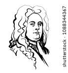 george frideric handel.... | Shutterstock .eps vector #1088344367