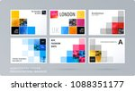 square design presentation... | Shutterstock .eps vector #1088351177