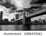 famous brooklyn bridge in new... | Shutterstock . vector #1088353061