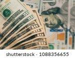 american dollars cash money | Shutterstock . vector #1088356655