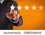 five stars  5  rating with a... | Shutterstock . vector #1088368445