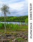 landscape of the kuntijarvi... | Shutterstock . vector #1088378339