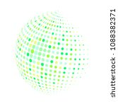 abstract globe dotted sphere ... | Shutterstock .eps vector #1088382371