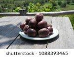 passiflora edulis passion... | Shutterstock . vector #1088393465