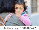 close up of unhappy dark... | Shutterstock . vector #1088400677