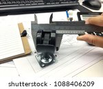 staff measure the part accuracy ... | Shutterstock . vector #1088406209