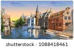 view on rozenhoedkaai water... | Shutterstock .eps vector #1088418461