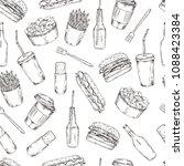 vector illustration. pen style... | Shutterstock .eps vector #1088423384