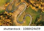 aerial landscape   windy road... | Shutterstock . vector #1088424659