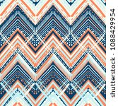 abstract ikat and boho style... | Shutterstock .eps vector #1088429954
