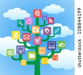 tree with icons gadgets and... | Shutterstock .eps vector #108844199