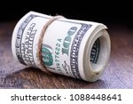 closeup  macro of rolled... | Shutterstock . vector #1088448641