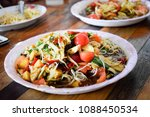 som tum  is a delicious dishes... | Shutterstock . vector #1088450534