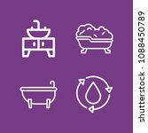 outline bathroom icon set such... | Shutterstock .eps vector #1088450789