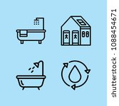 outline bathroom icon set such... | Shutterstock .eps vector #1088454671