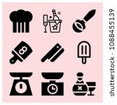filled food icon set such as... | Shutterstock .eps vector #1088455139