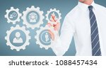 business man interacting with...   Shutterstock . vector #1088457434