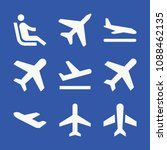 plane related set of 9 icons... | Shutterstock .eps vector #1088462135