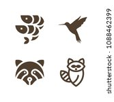 animal related set of 4 icons... | Shutterstock .eps vector #1088462399
