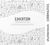 education infographic with hand ...   Shutterstock .eps vector #1088462531