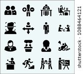 people related set of 16 icons...   Shutterstock .eps vector #1088464121