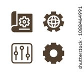 settings related set of 4 icons ... | Shutterstock .eps vector #1088464991