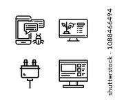 computer related set of 4 icons ... | Shutterstock .eps vector #1088466494
