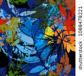 seamless pattern background ... | Shutterstock .eps vector #1088478221