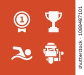 filled set of 4 sport icons... | Shutterstock .eps vector #1088487101