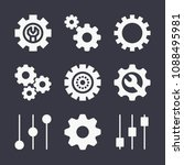 set of 9 settings filled icons... | Shutterstock .eps vector #1088495981