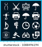 set of 16 tool filled icons... | Shutterstock .eps vector #1088496194