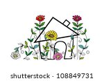 summer house | Shutterstock . vector #108849731