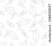 graduate caps with graduate...   Shutterstock .eps vector #1088500097