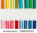 multicolor sewing threads on... | Shutterstock . vector #1088503031