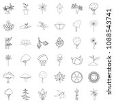 berry icons set. outline style...   Shutterstock . vector #1088543741