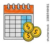 calendar reminder with coins...