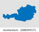 austria map   high detailed... | Shutterstock .eps vector #1088549171