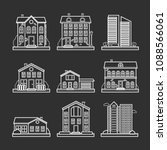 collection of vector line city... | Shutterstock .eps vector #1088566061