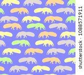 anteater   animal  pattern | Shutterstock .eps vector #1088571911