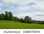 meadow with green grass and... | Shutterstock . vector #1088578391
